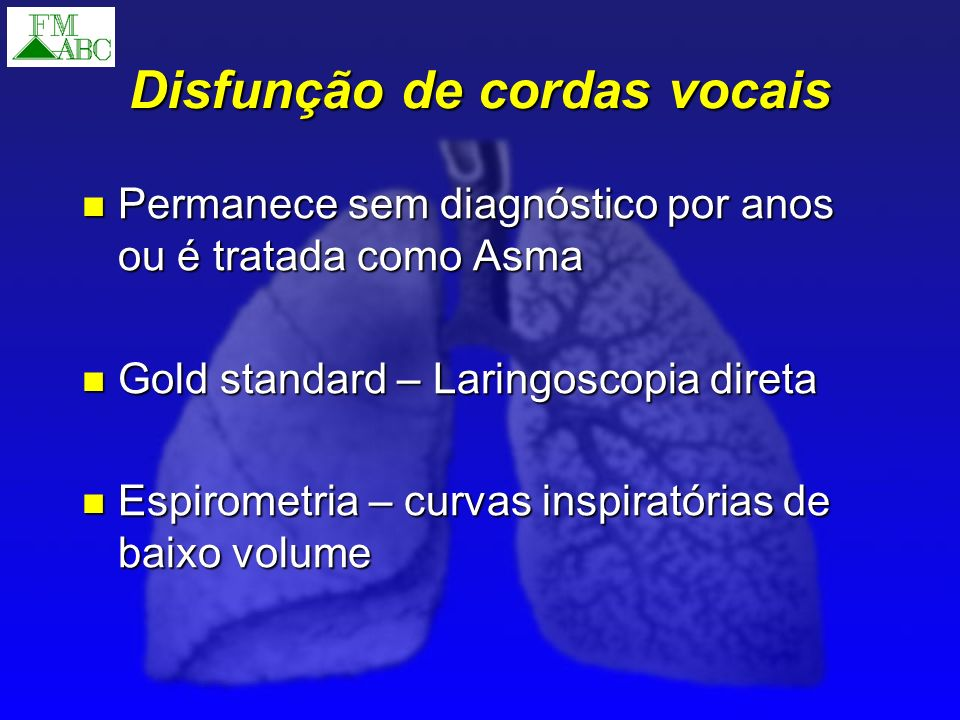 Disfunção de cordas vocais