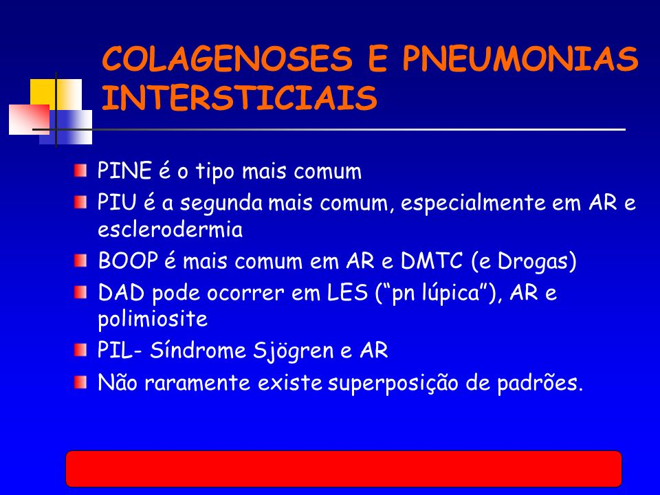 COLAGENOSES E PNEUMONIAS INTERSTICIAIS