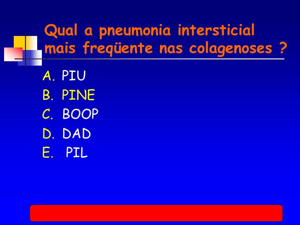 Qual a pneumonia intersticial mais freqüente nas colagenoses