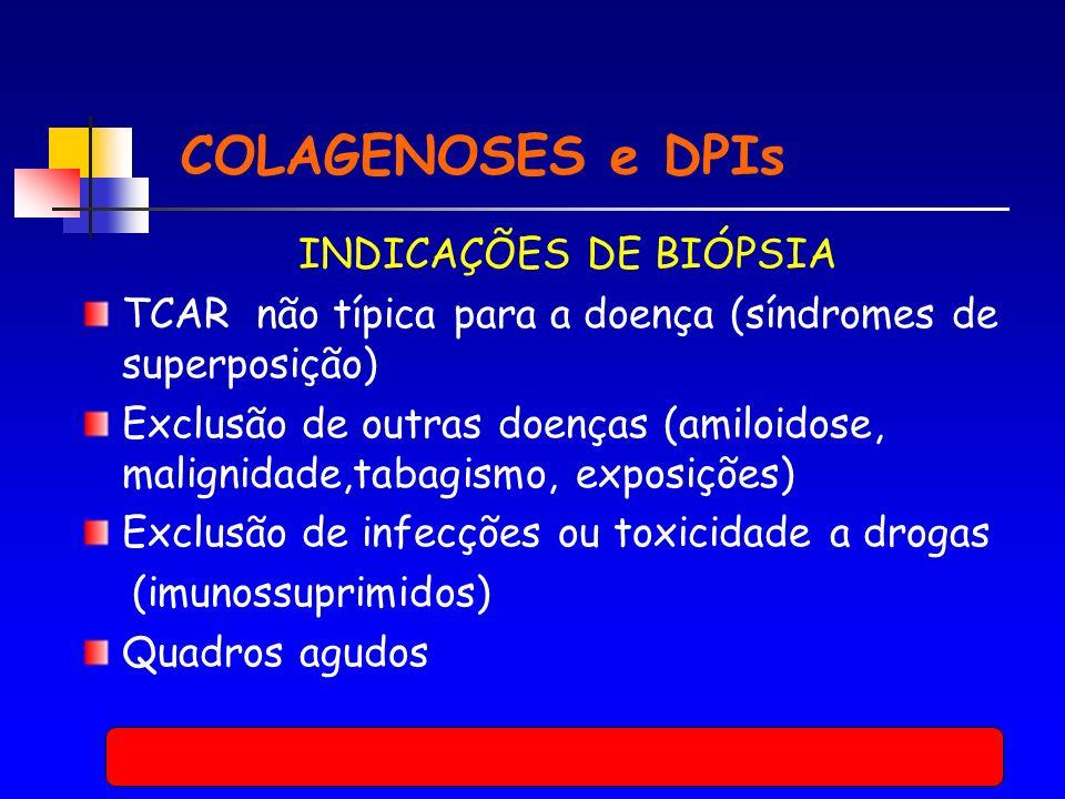 COLAGENOSES e DPIs INDICAÇÕES DE BIÓPSIA