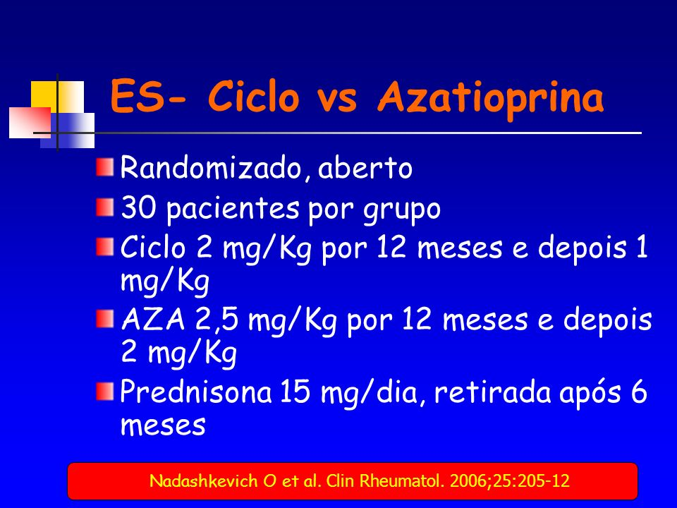 ES- Ciclo vs Azatioprina