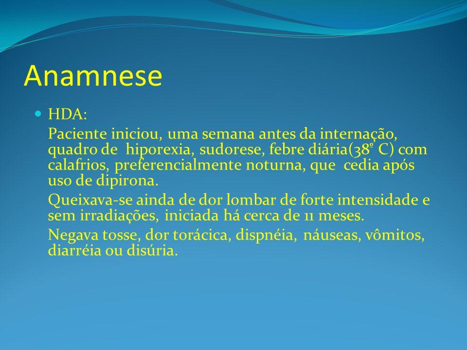 Anamnese HDA: