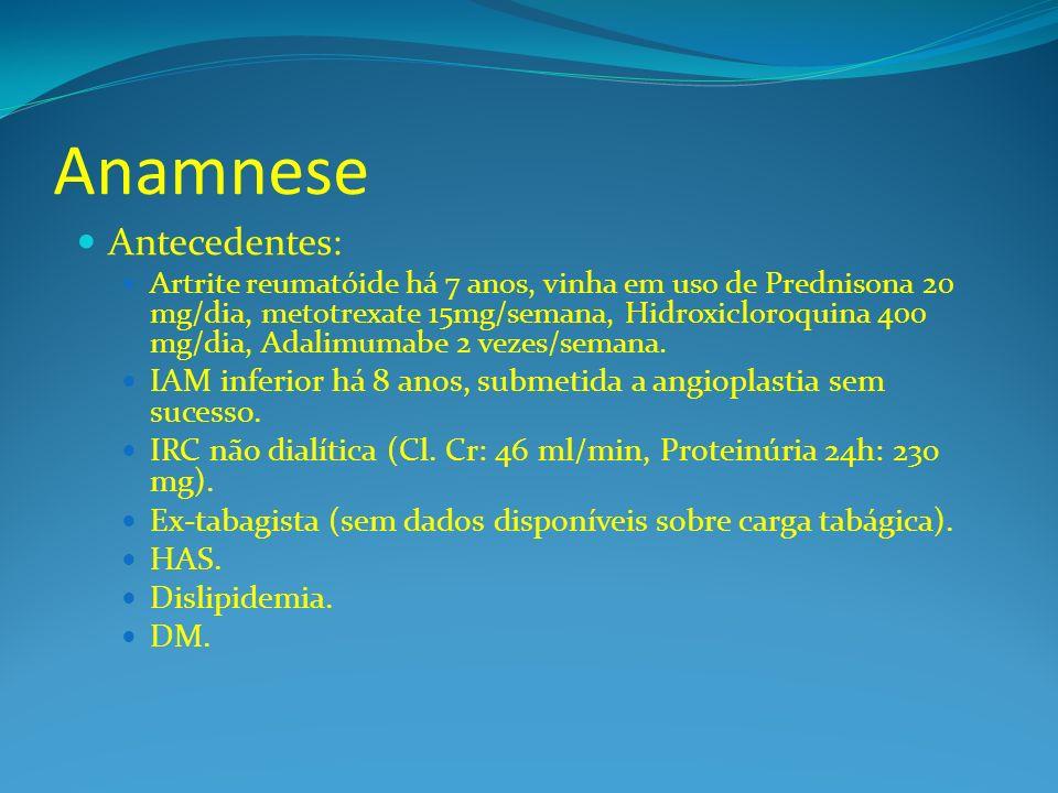 Anamnese Antecedentes: