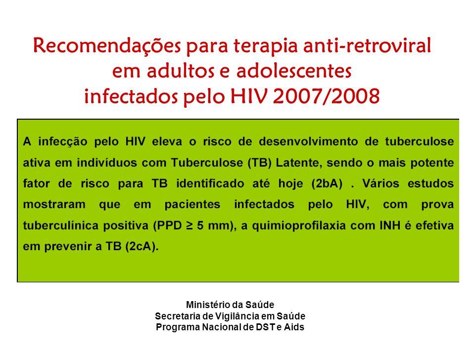 Recomendações para terapia anti-retroviral em adultos e adolescentes