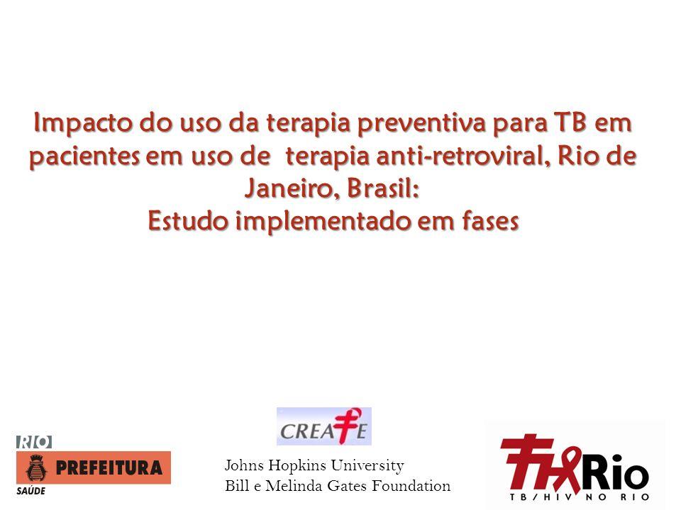 Impacto do uso da terapia preventiva para TB em pacientes em uso de terapia anti-retroviral, Rio de Janeiro, Brasil: Estudo implementado em fases