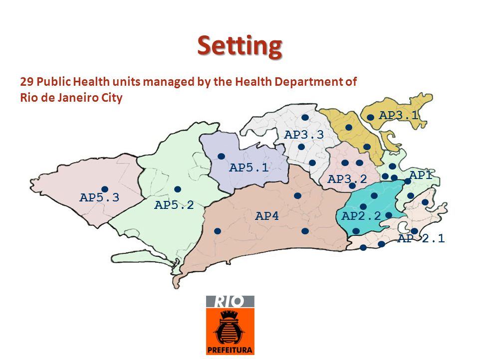 Setting 29 Public Health units managed by the Health Department of