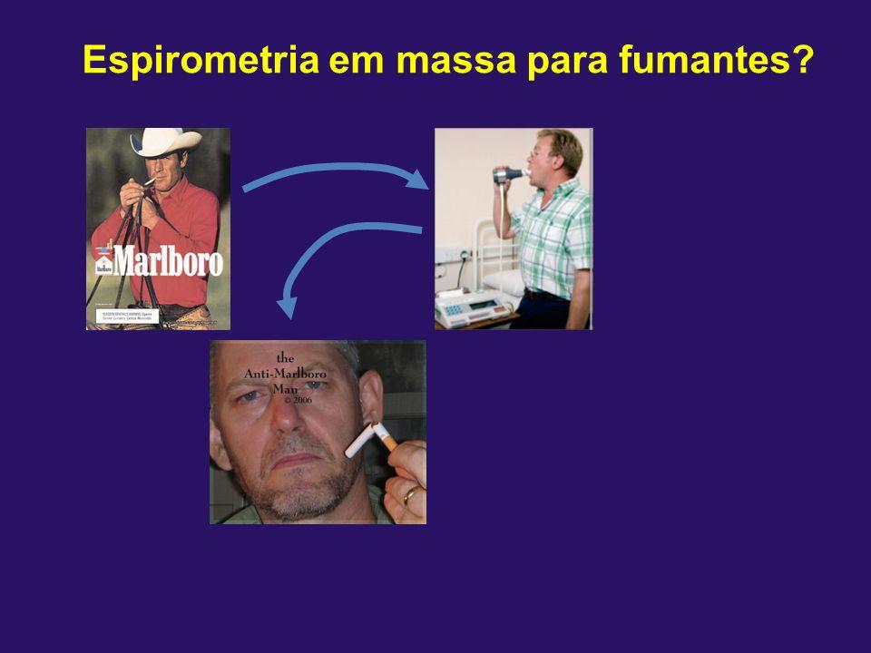 Espirometria em massa para fumantes