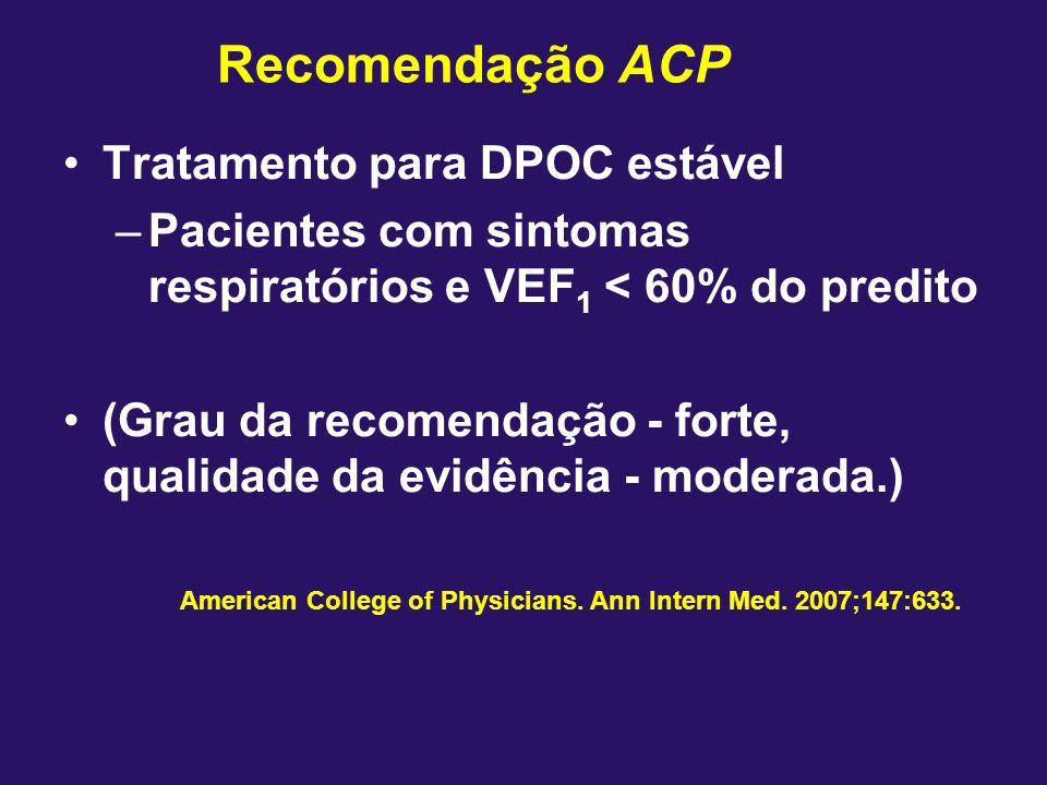 Recomendação ACP Tratamento para DPOC estável