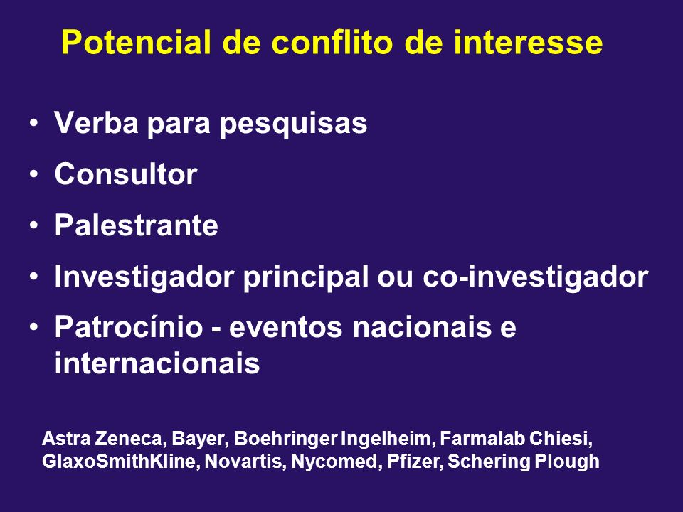 Potencial de conflito de interesse