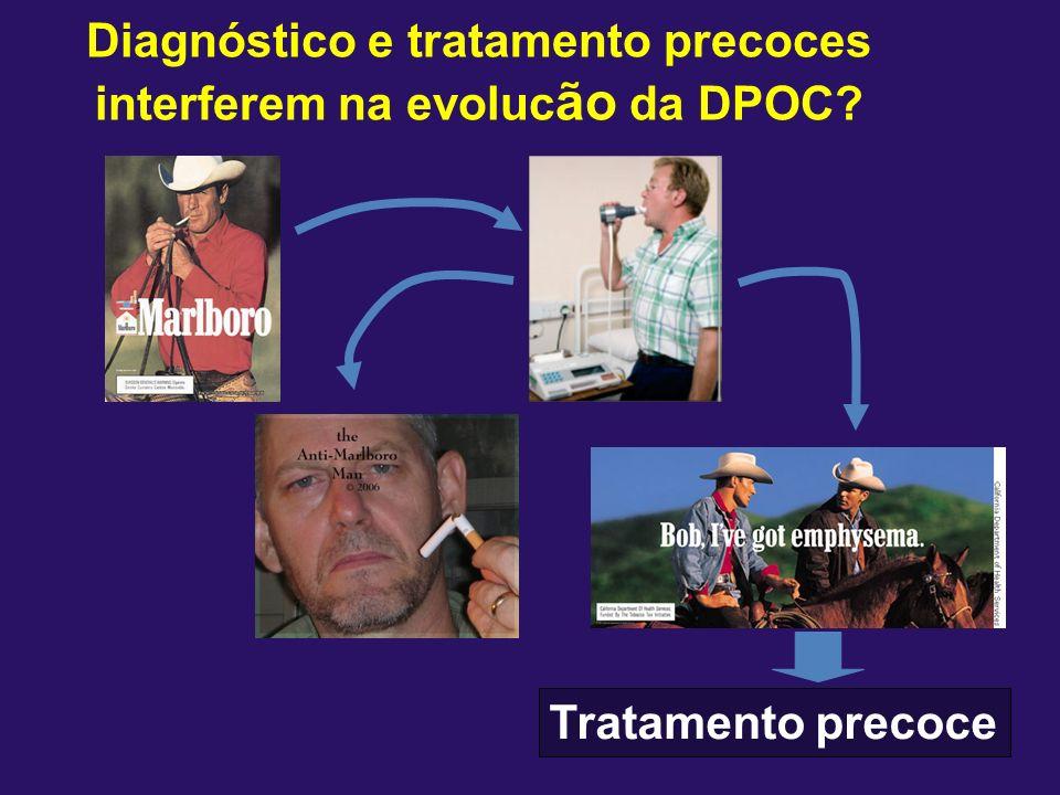 Diagnóstico e tratamento precoces interferem na evolucão da DPOC