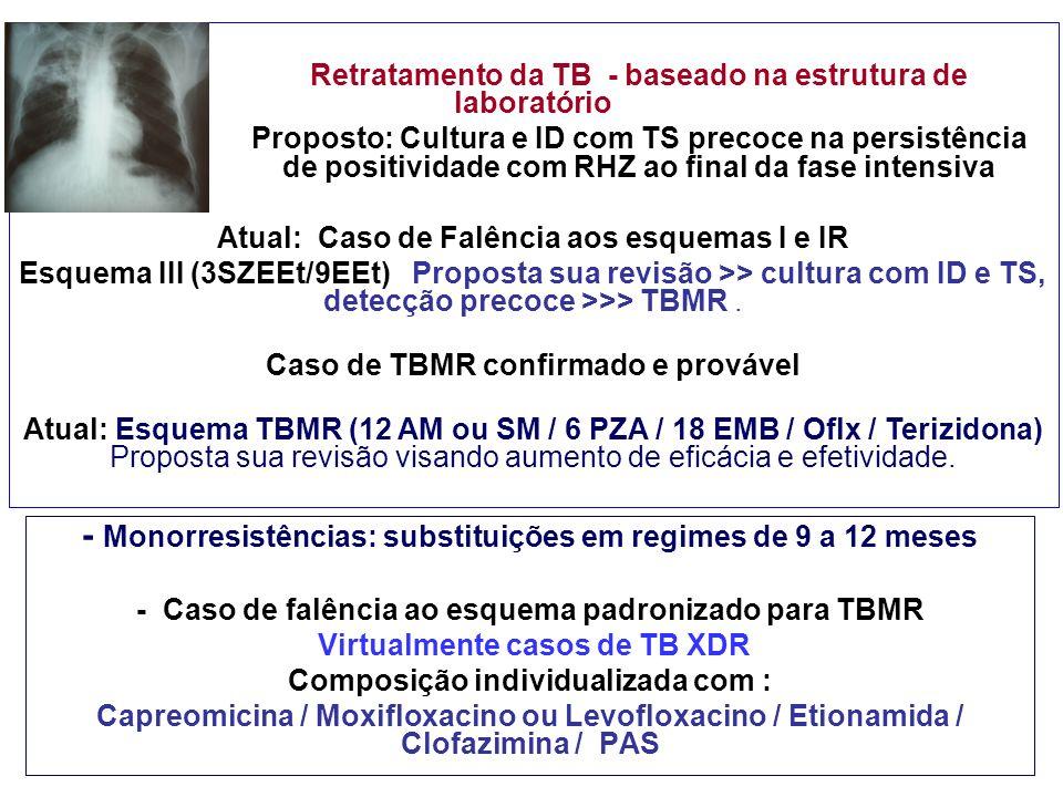 - Monorresistências: substituições em regimes de 9 a 12 meses