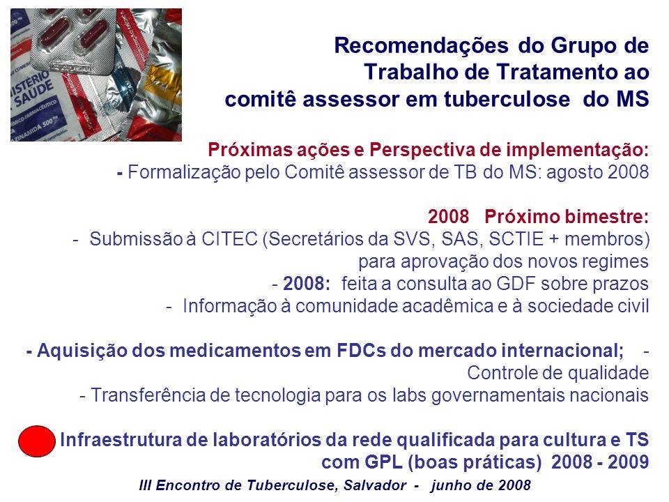 III Encontro de Tuberculose, Salvador - junho de 2008
