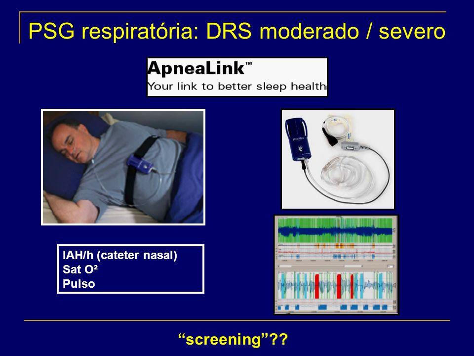 PSG respiratória: DRS moderado / severo