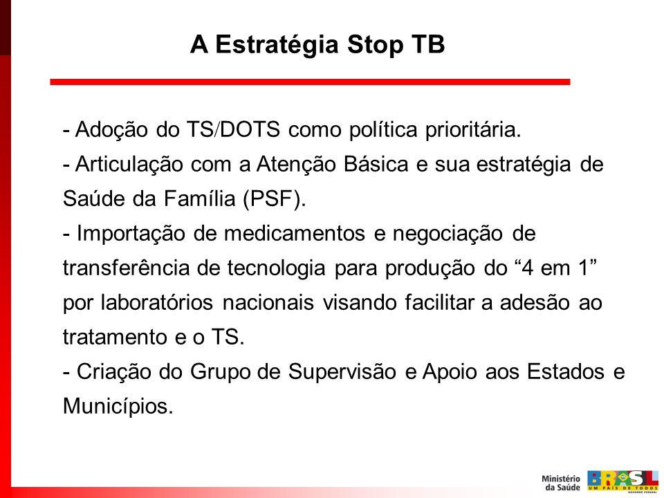 A Estratégia Stop TB - Adoção do TSDOTS como política prioritária.