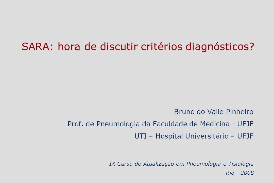 SARA: hora de discutir critérios diagnósticos