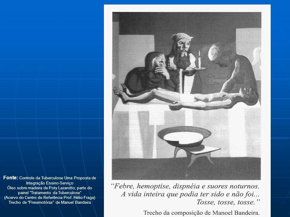 Trecho de Pneumotórax de Manuel Bandeira