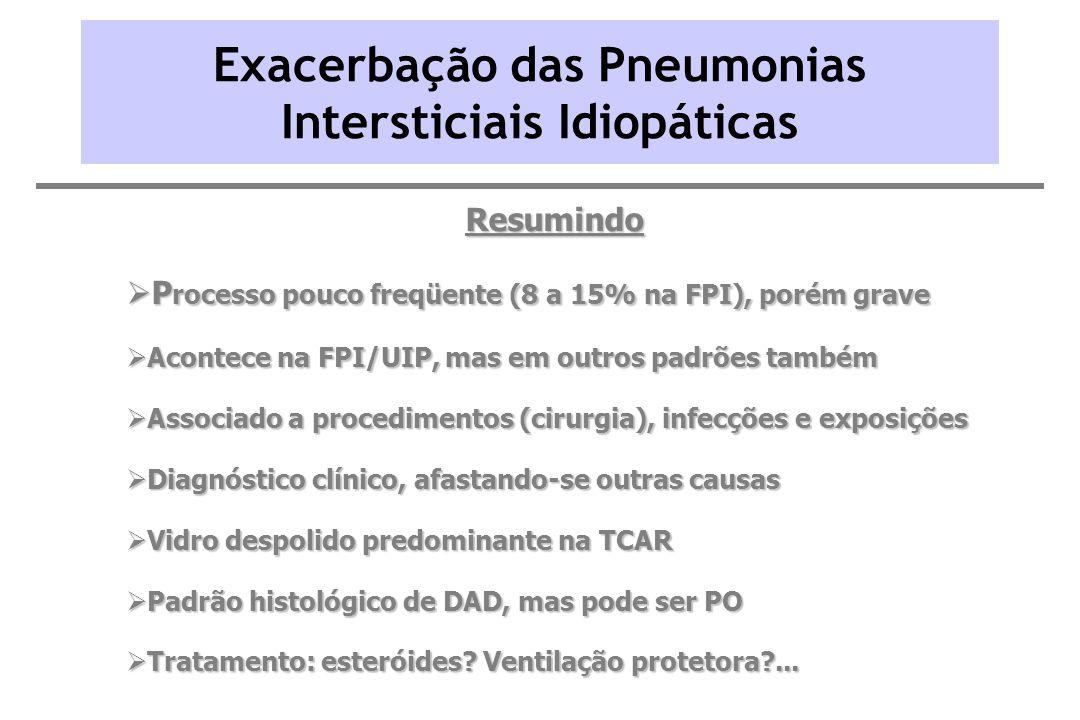 Exacerbação das Pneumonias Intersticiais Idiopáticas