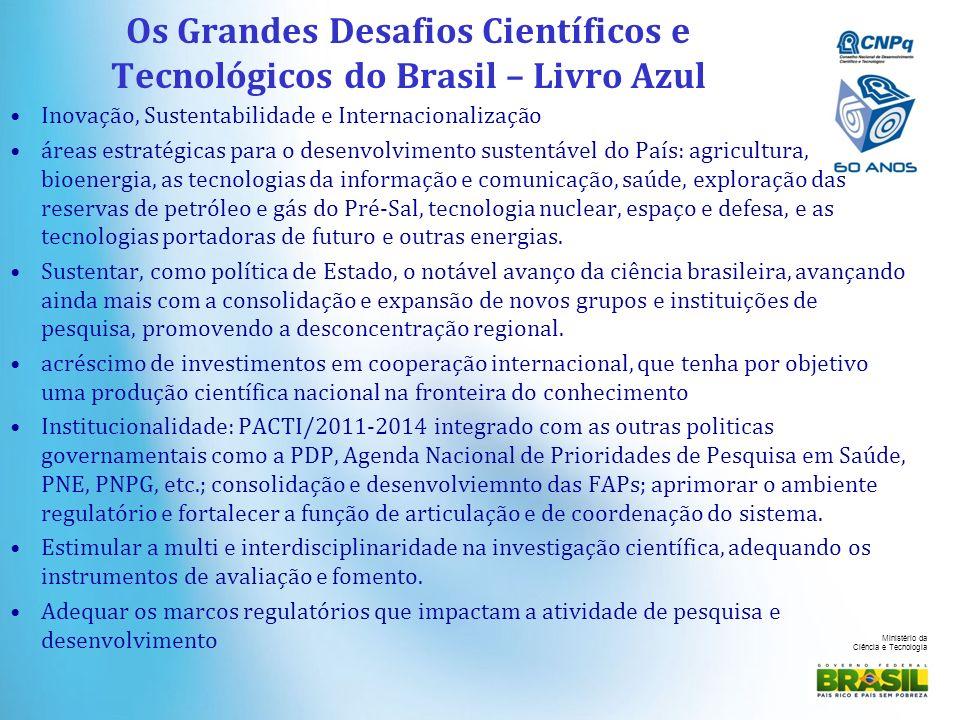 Os Grandes Desafios Científicos e Tecnológicos do Brasil – Livro Azul