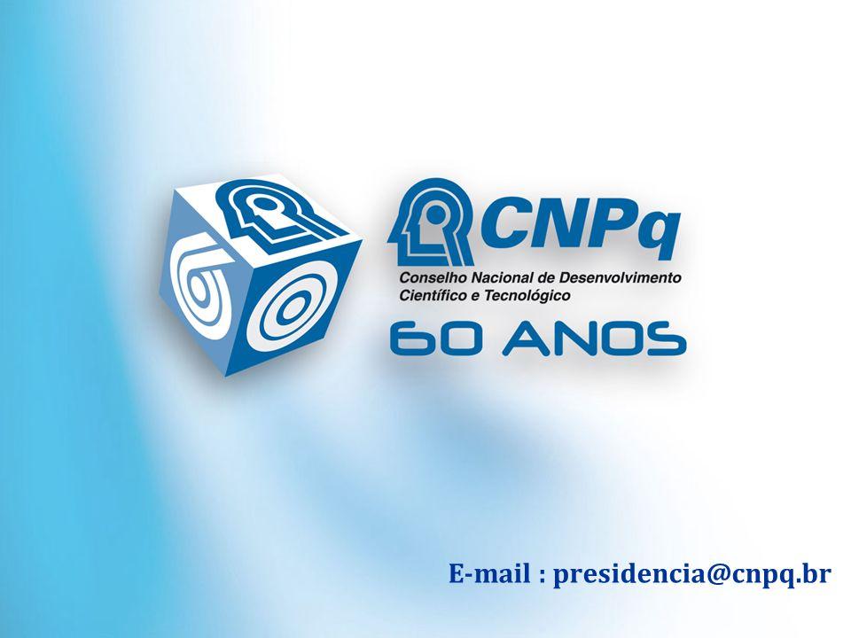 E-mail : presidencia@cnpq.br