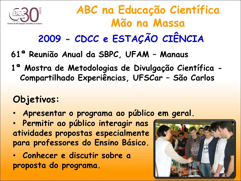 ABC na Educação Científica Mão na Massa