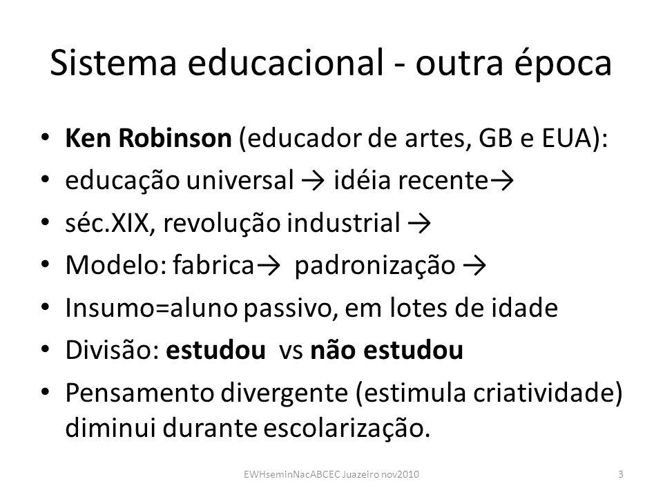 Sistema educacional - outra época