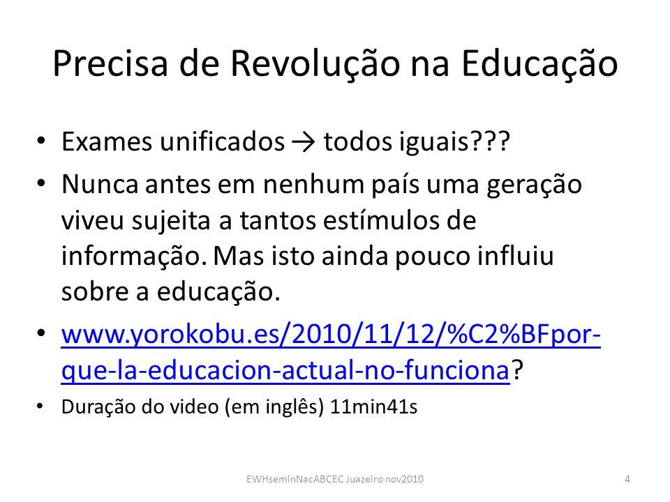 Precisa de Revolução na Educação