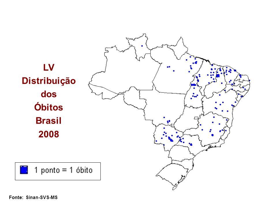LV Distribuição dos Óbitos Brasil 2008