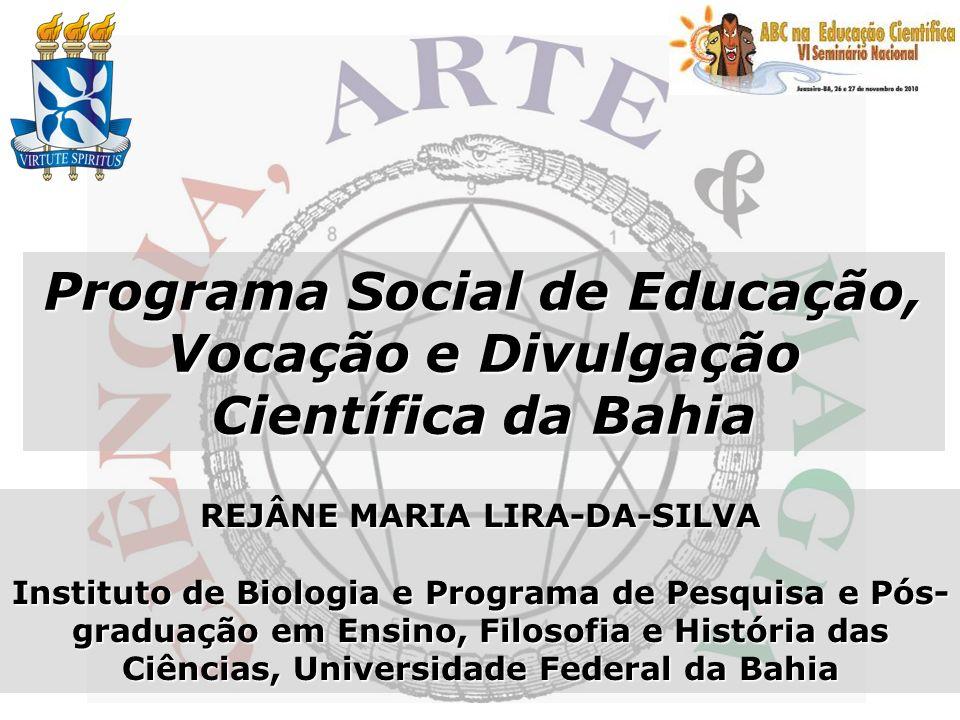 Programa Social de Educação, Vocação e Divulgação Científica da Bahia