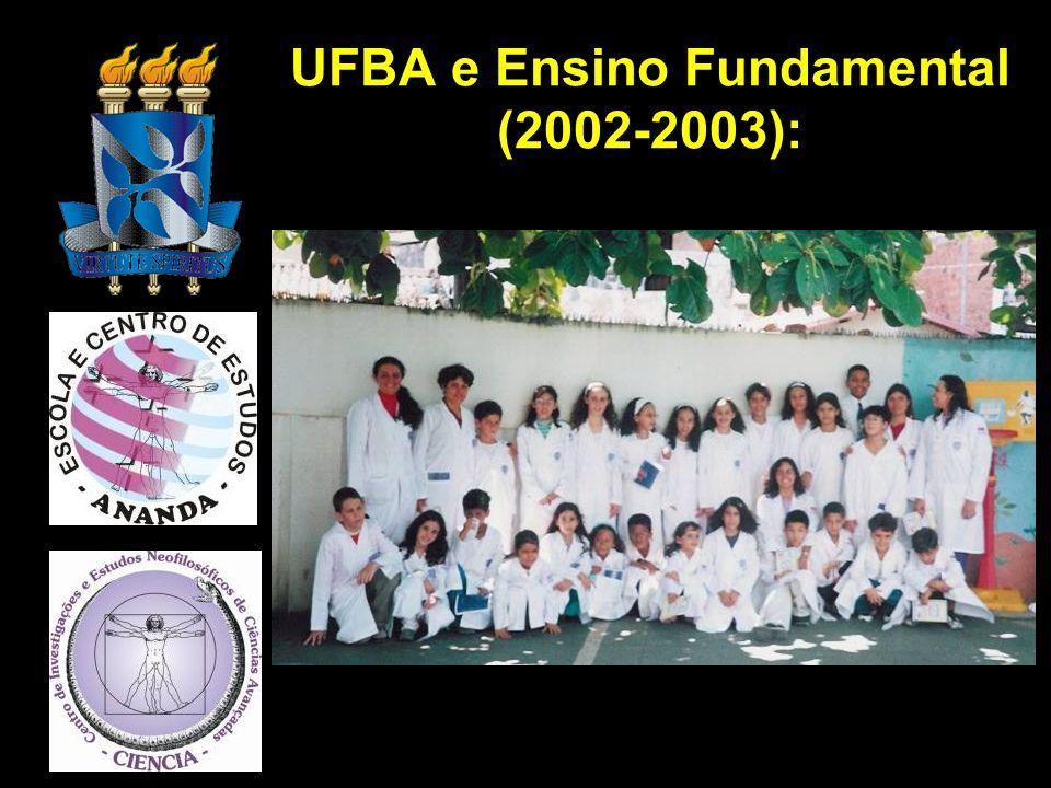UFBA e Ensino Fundamental (2002-2003):