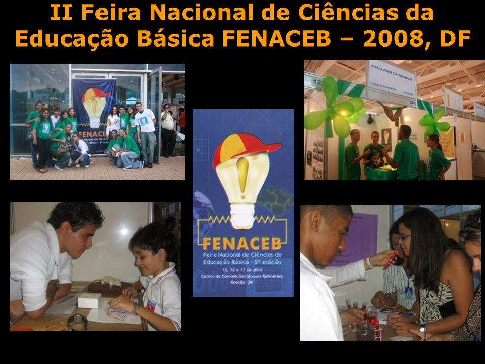 II Feira Nacional de Ciências da Educação Básica FENACEB – 2008, DF