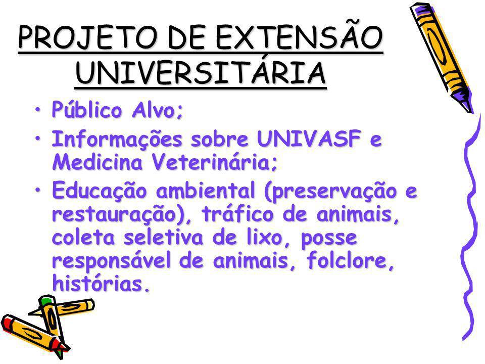 PROJETO DE EXTENSÃO UNIVERSITÁRIA