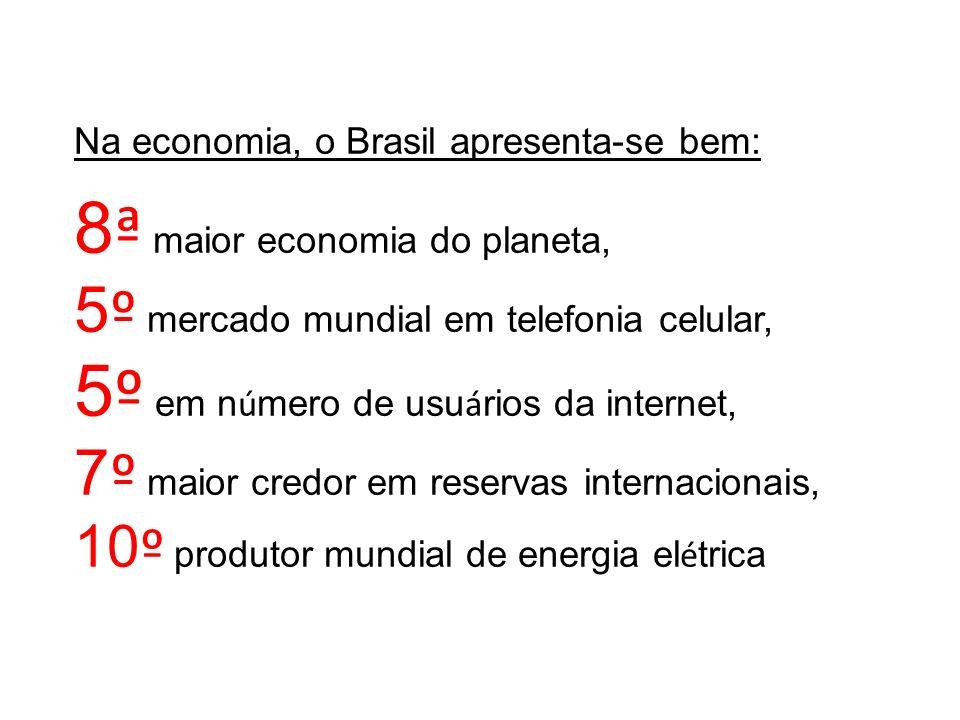 8ª maior economia do planeta, 5º em número de usuários da internet,