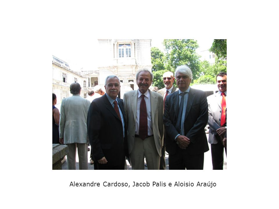 Alexandre Cardoso, Jacob Palis e Aloisio Araújo