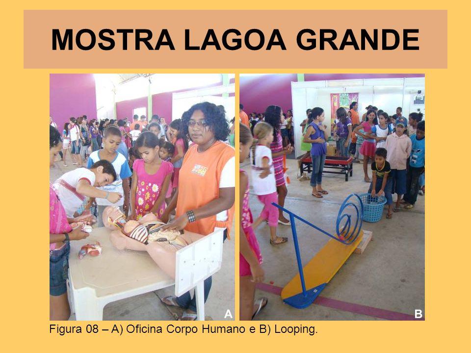 MOSTRA LAGOA GRANDE Figura 08 – A) Oficina Corpo Humano e B) Looping.