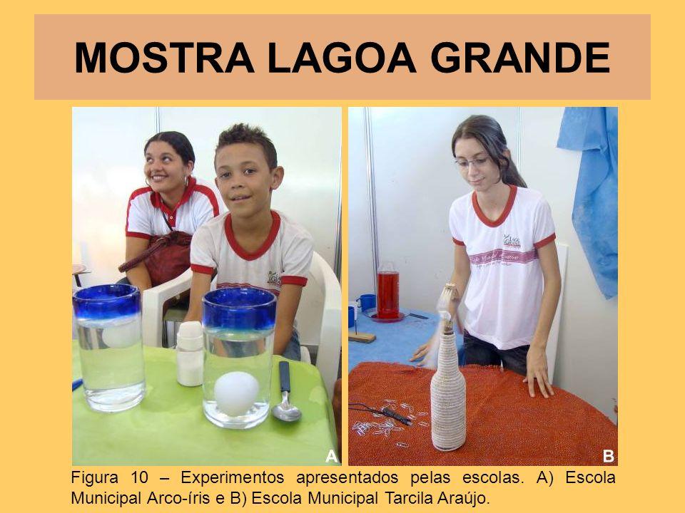 MOSTRA LAGOA GRANDE Figura 10 – Experimentos apresentados pelas escolas.