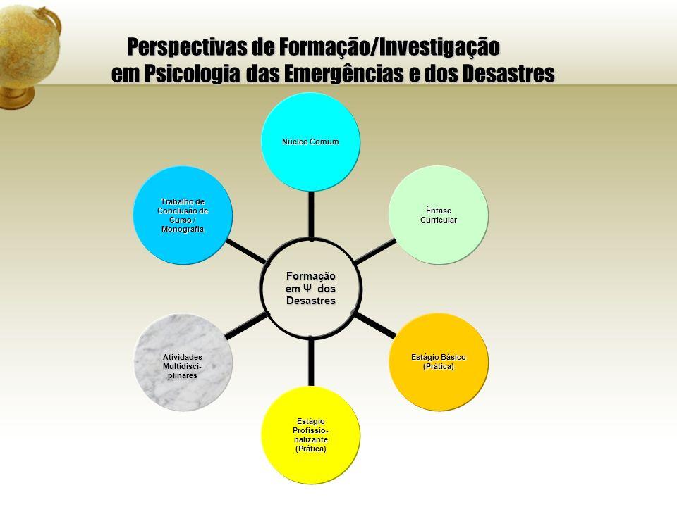 Perspectivas de Formação/Investigação em Psicologia das Emergências e dos Desastres