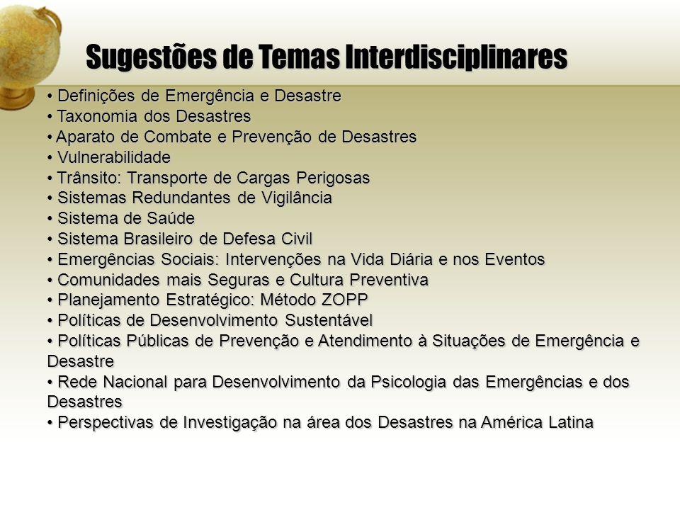 Sugestões de Temas Interdisciplinares