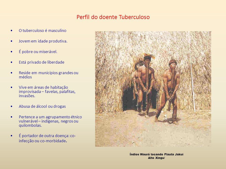 Perfil do doente Tuberculoso