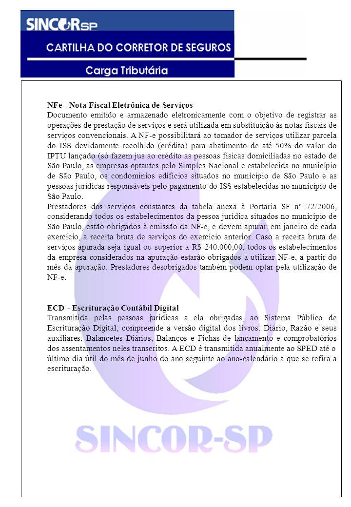 NFe - Nota Fiscal Eletrônica de Serviços