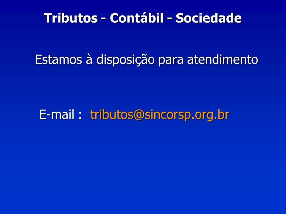 Tributos - Contábil - Sociedade