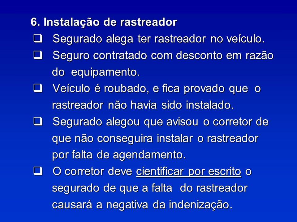 6. Instalação de rastreador