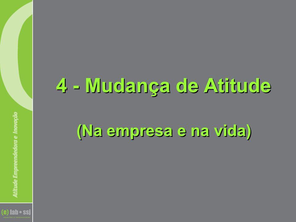 4 - Mudança de Atitude (Na empresa e na vida)
