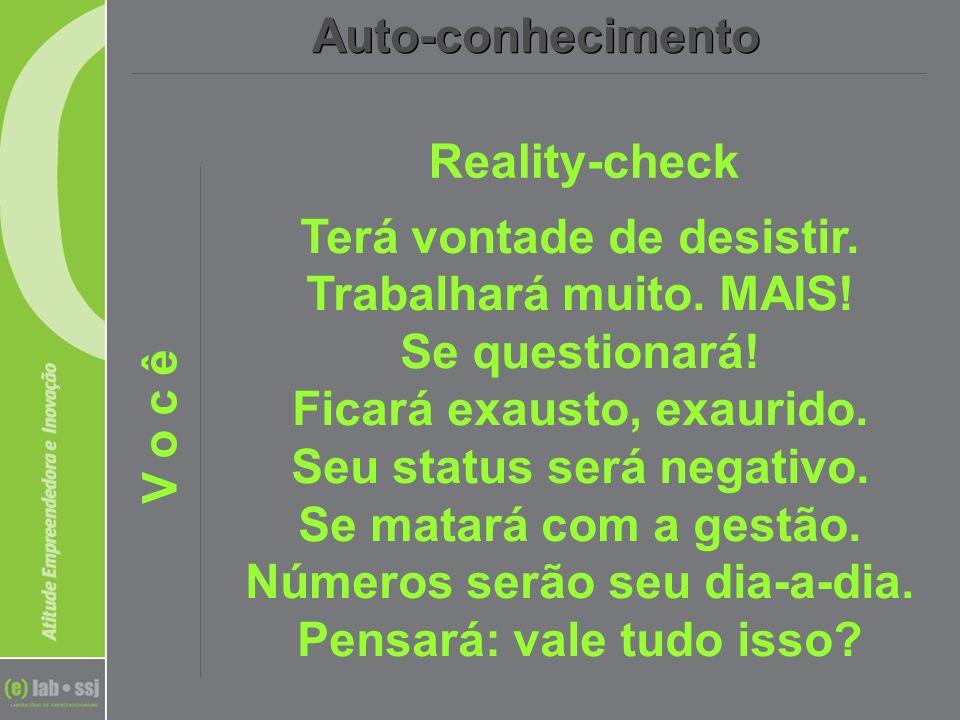 Auto-conhecimentoReality-check. V o c ê.