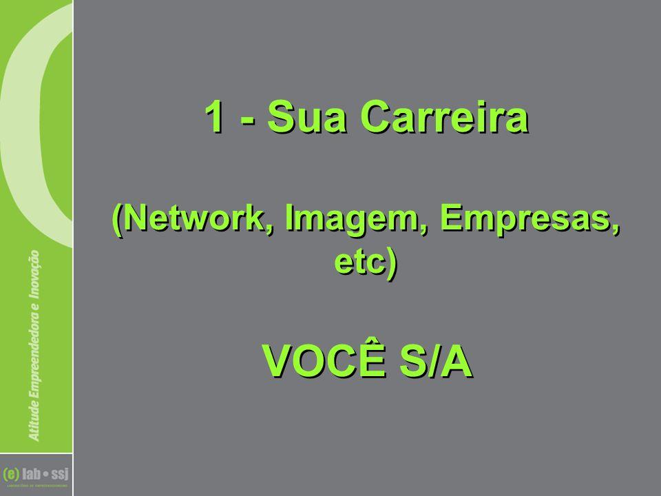 1 - Sua Carreira (Network, Imagem, Empresas, etc) VOCÊ S/A