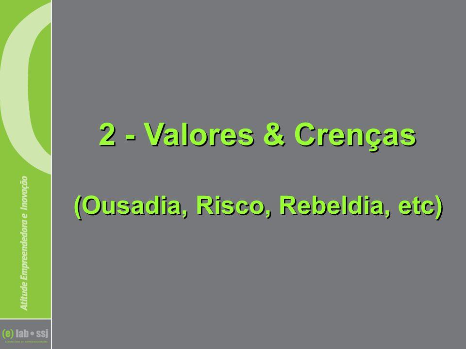 2 - Valores & Crenças (Ousadia, Risco, Rebeldia, etc)