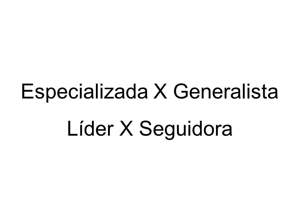 Especializada X Generalista