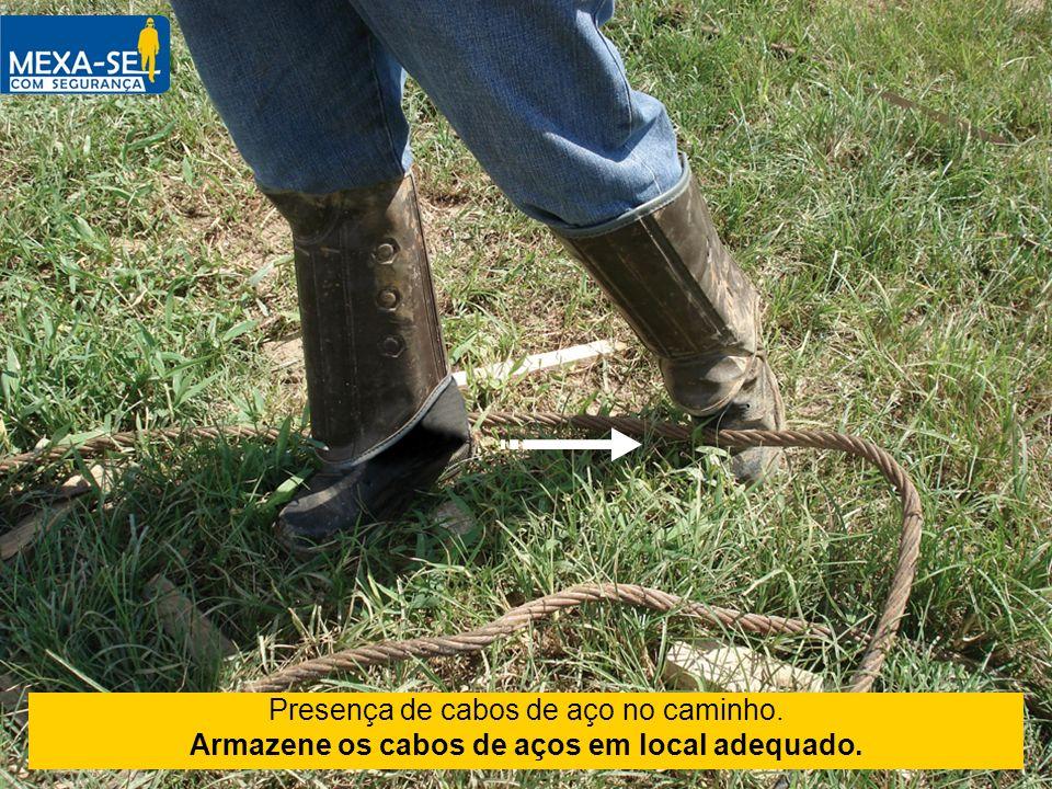 Armazene os cabos de aços em local adequado.