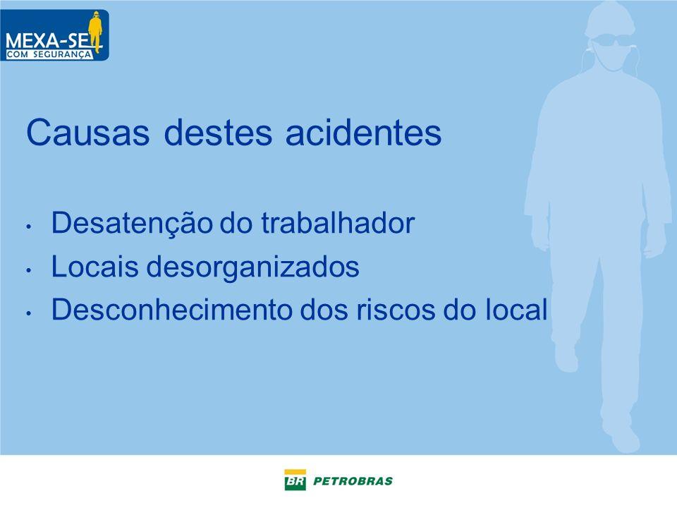 Causas destes acidentes