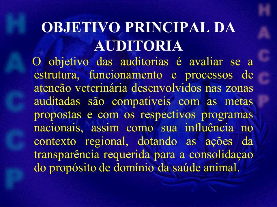 OBJETIVO PRINCIPAL DA AUDITORIA