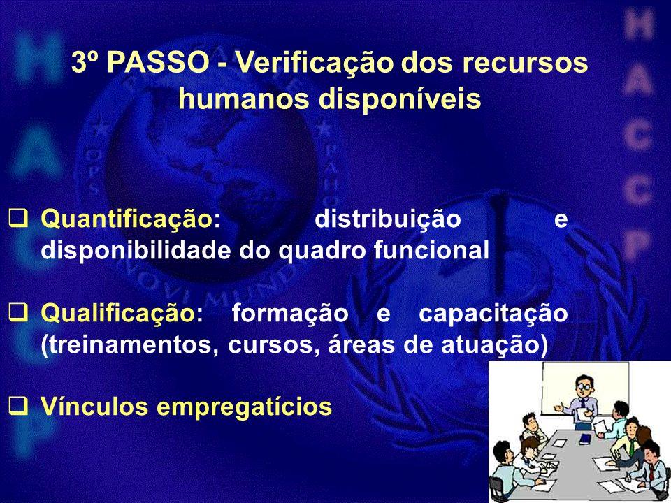 3º PASSO - Verificação dos recursos humanos disponíveis